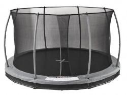 Trambolina Ugradna SUMMEN 396cm sa sigurnosnom mrežom - Siva
