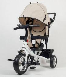 Tricikl Guralica Playtime 411 Simple sa belim ramom - Bež