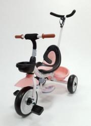 Tricikl sa ručicom za guranje model 429 - Roze