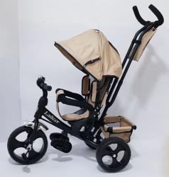 Tricikl za decu Model 06 sa rotirajućim sedištem - Bež