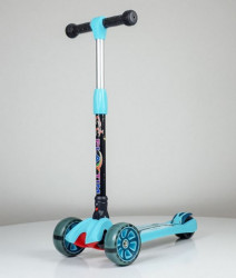 Trotinet Folding sa svetlećim točkovima Model 659 - Plavi