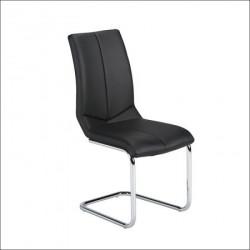 Trpezarijska stolica X-1229 Noge hrom/ Crna 430x600x960 mm ( 779-016 )