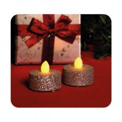 Ukrasne sveće sa srebrnim šljokicama ( CD2/SX )
