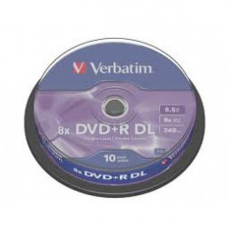 Verbatim 43666 Double Layer 8.5GB DVD+R DL 8X ( 55YB8+/Z )