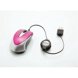 Verbatim 49021 GO Mini optički Travel Hot pink miš ( MISV49021 )