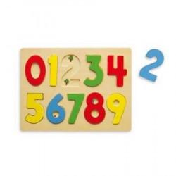 Viga Drvena puzzla 10 kom - brojevi ( 0126416 )