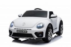 Volkswagen Buba Licencirani auto na akumulator sa kožnim sedištem i mekim gumama - Beli