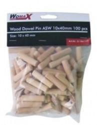 Womax tipla drvena ASW 10x40mm 100 kom ( 0104112 )