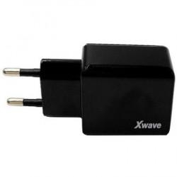 Xwave USB zidni punjač za mobilne, tablete, Dual USB, 5V 1A/2.1A, Crna ( Xwave H22 )