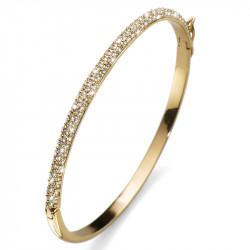 Ženska Oliver Weber Brill Gold Crystal Zlatna narukvica sa swarovski belim kristalom