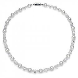 Ženska Oliver Weber Pearl White narukvica sa belim swarowski perlama
