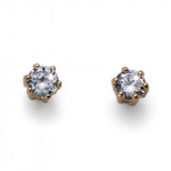 Ženske Oliver Weber Brilli Small Gold Crystal Zlatne mindjuše sa swarovski belim kristalom