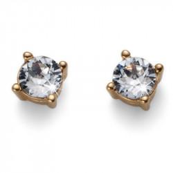 Ženske Oliver Weber Sweet Gold Crystal Zlatne mindjuše sa swarovski belim kristalom