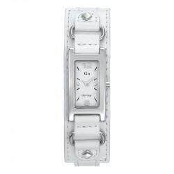 Ženski Girl Only Beli Modni Kvadratni ručni sat sa belim kožnim kaišem
