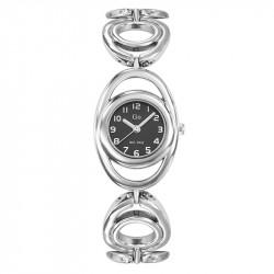 Ženski Girl Only Cercle Crni Modni ručni sat sa metalnim kaišem