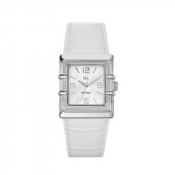 Ženski Girl Only Kvadratni Beli Modni ručni sat sa belim kožnim kaišem