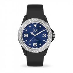 Ženski Ice Watch Ice Star Black Deep Blue Crni Elegantno Sportski Ručni Sat Sa Swarovski Kristalima