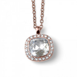 Ženski Oliver Weber Secret Crystal Roze Zlatni Lančić Sa Swarovski Belim Kristalima