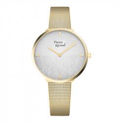 Ženski Pierre Ricaud Quartz Wall Beli Zlatni Modni Ručni Sat Sa Zlatnim Pancir Kaišem