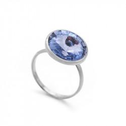 Ženski Victoria Cruz Basic L Light Sapphire Prsten Sa Swarovski Plavim Kristalom