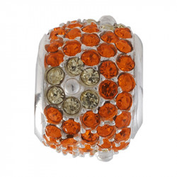 Amore Baci Narandžasti Cvet srebrni privezak sa swarovski kristalom za narukvicu