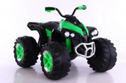 Bagi Kvad Motor na akumulator sa mekim gumama i kožnim sedištem - Zeleni