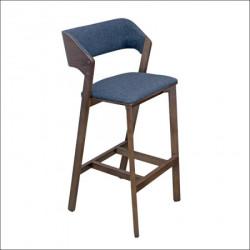 Barska stolica Toni Siva/Tamni orah noge 480x490x1080 mm ( 776-005 )