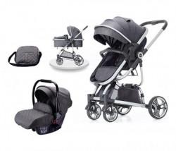 BBO kolica za bebe tiffany set - grey ( 618GREYS )