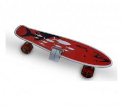 BBO Speedy A003 skejtbord nosivost 85kg - crveni ( A003RD )