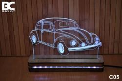 Black Cut 3D Lampa jednobojna - Buba ( C05 )