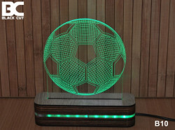 Black Cut 3D Lampa jednobojna - Fudbalska lopta ( B10 )