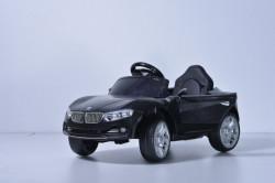 BMW Mini Auto na akumulator sa kožnim sedištem i mekim gumama - Crni