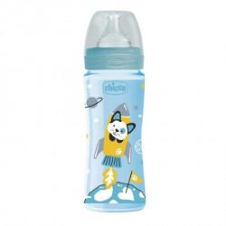 Chicco WB plastična flašica 330ml, silikon, plava ( A048494 )