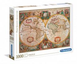 Clementoni puzzle 1000 hqc old map ( CL31229 )