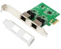 E-Green PCI-Express kontroler 2-port Gigabit Ethernet