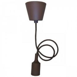 Elit+ silikonska luster visilica sa grlom e27 braon ( EL9724 )