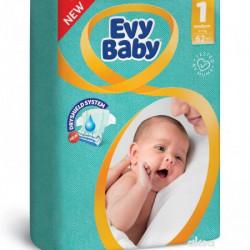 Evy baby pelene 1 newborn twinpack 2-5kg 62 kom ( A047574 )