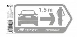 Force nalepnice sigurnost za automobil 184x84mm, srebrna ( 16428 )