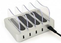 Gembird 4-port USB punjac za istovremeno punjenje 4 uredjaja, 4.1 A, 20W EG-U4C4A-01