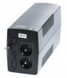 Gembird 650VA 390W AVR UPS, 2 x shuko output sockets, black EG-UPS-B650