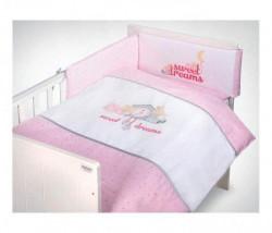 Klups Posteljina za bebe set 5 delova - sweet dreams pink ( C-5/K314 )