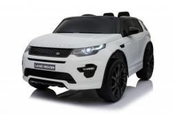 Land Rover Discovery Licencirani Auto na akumulator sa kožnim sedištem i mekim gumama - Beli