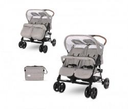 Lorelli kolica za blizance twin steel grey (2021) + torba ( 10020072184 )