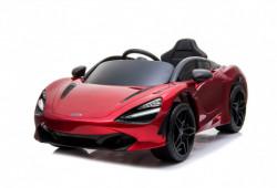 McLaren 720s Licencirani Auto na akumulator Model 272-1 - Metalik crveni sa kožnim sedištem i mekim gumama