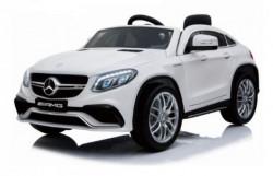 Mercedes GLE 63 AMG Licencirani Auto na akumulator sa kožnim sedištem i mekim gumama - Beli ( BJ 005 )