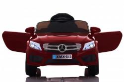 Mercedes XMX 815 Auto na akumulator sa kožnim sedištem i mekim gumama - Crveni ( BJ 815 )