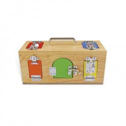 Montesori Drvena kutija sa bravama i katancima ( HTS0024 )