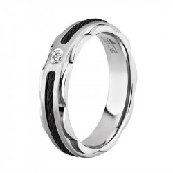 Muški Lotus Style Steel Rings Sajla Crni Prsten Od Hirurškog čelika 62