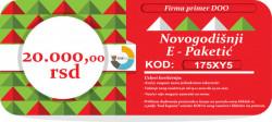 Novogodišnji E-Paketić Vaučer - 20000 din