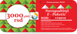 Novogodišnji E-Paketić Vaučer - 3000 din